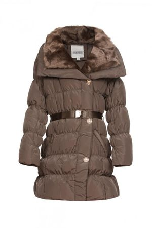 Newness Winter-Steppjacke mit Fellkragen – Bild 4