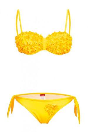 S. K. Push Up Bustier Bikini in Blumenoptik – Bild 9