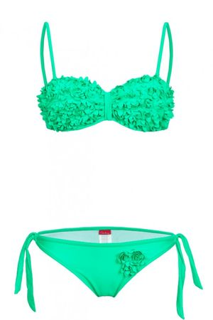 S. K. Push Up Bustier Bikini in Blumenoptik – Bild 12