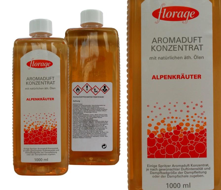 florage Aromaduft Konzentrat   1 L Alpenkräuter