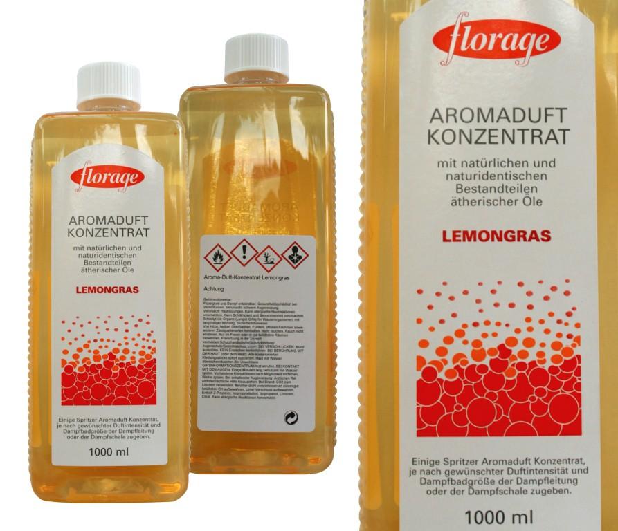 florage Aromaduft Konzentrat | 1 L Lemongras