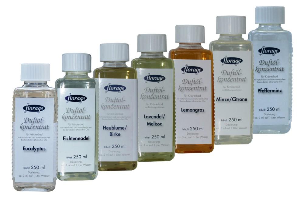 florage Duftölkonzentrat   250 ml 7 Duftsorten