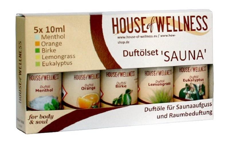 5er HoW Duftöl Set für Saunaaufguss 5 x 10 ml