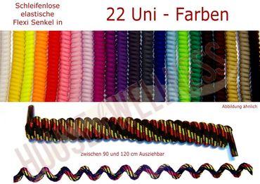 FLEXI schleifenlose Schnürsenkel / einfarbig