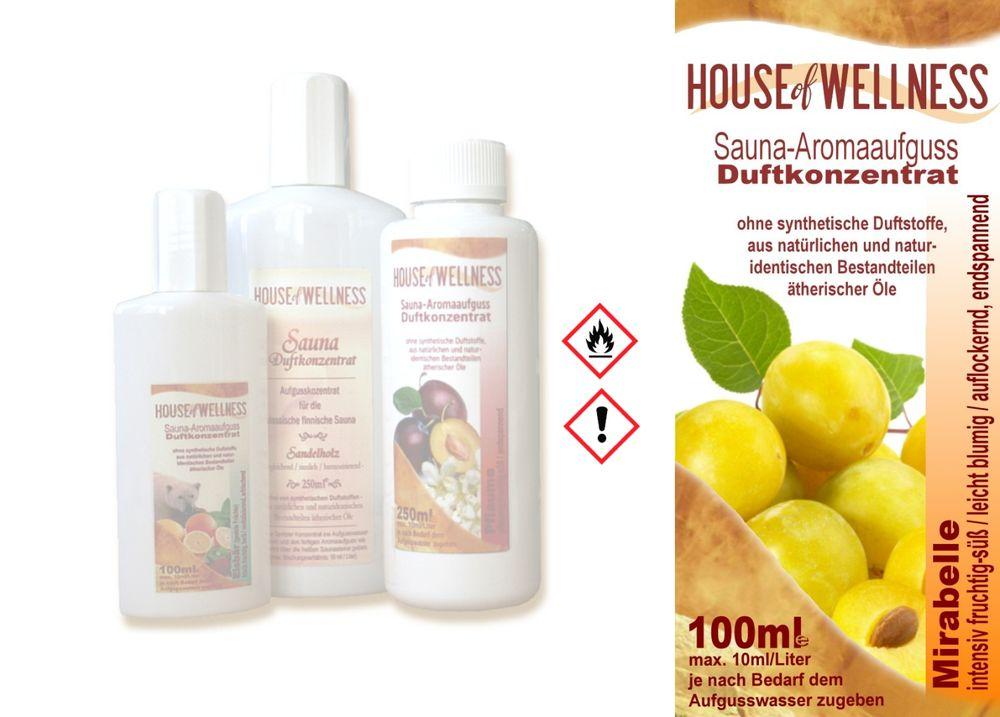 HoW Saunaduft Aufgusskonzentrat 100 ml | Mirabelle