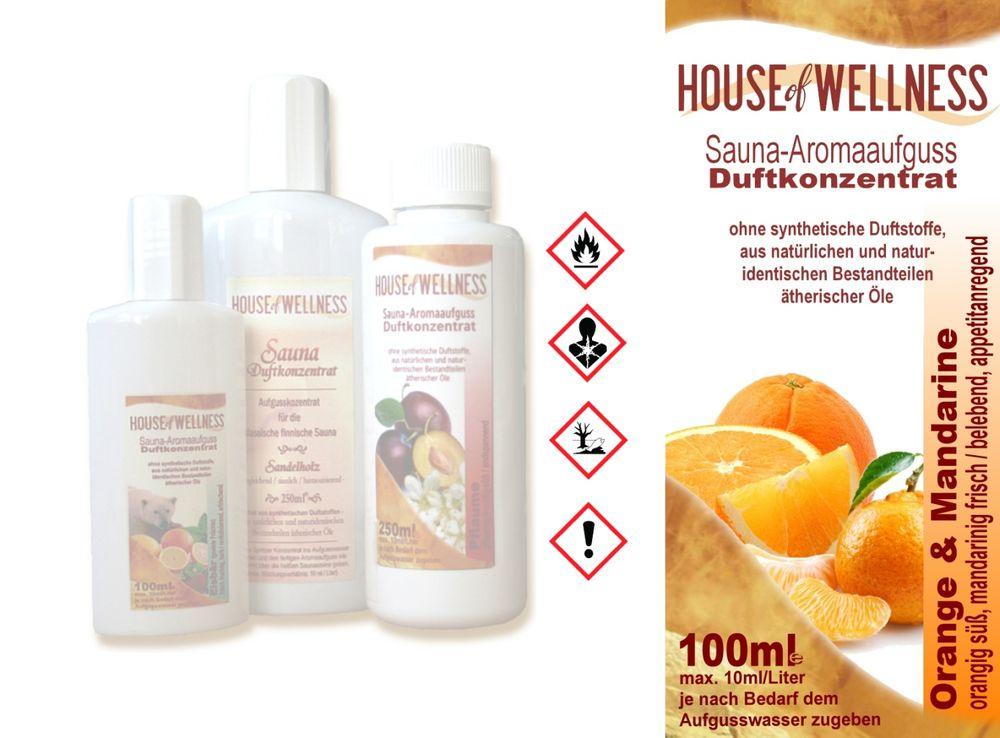 HoW Saunaduft Aufgusskonzentrat 100 ml | Orange & Mandarine