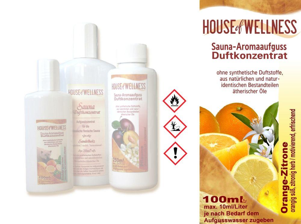 HoW Saunaduft Aufgusskonzentrat 100 ml   Orange & Zitrone