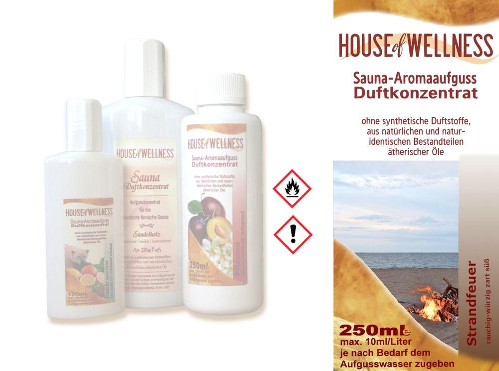 HoW Saunaduft Aufgusskonzentrat 250 ml   Strandfeuer