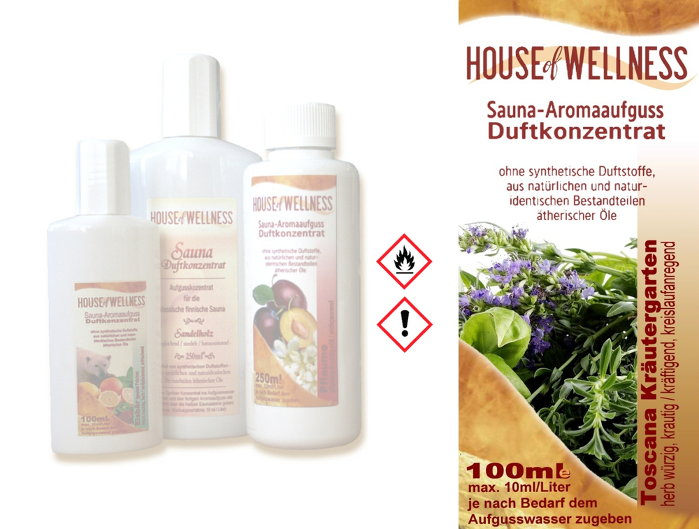 HoW Saunaduft Aufgusskonzentrat 100 ml | Toscana Kräutergarten
