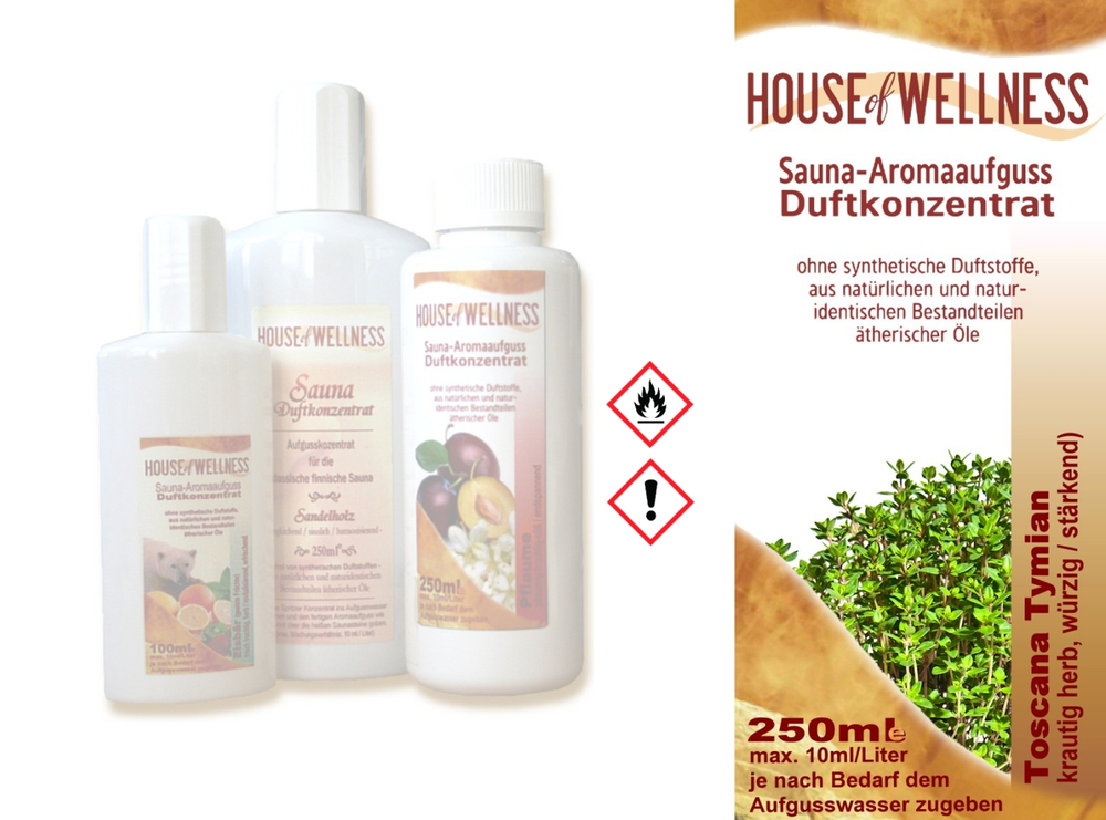 HoW Saunaduft Aufgusskonzentrat 250 ml | Toscana Thymian