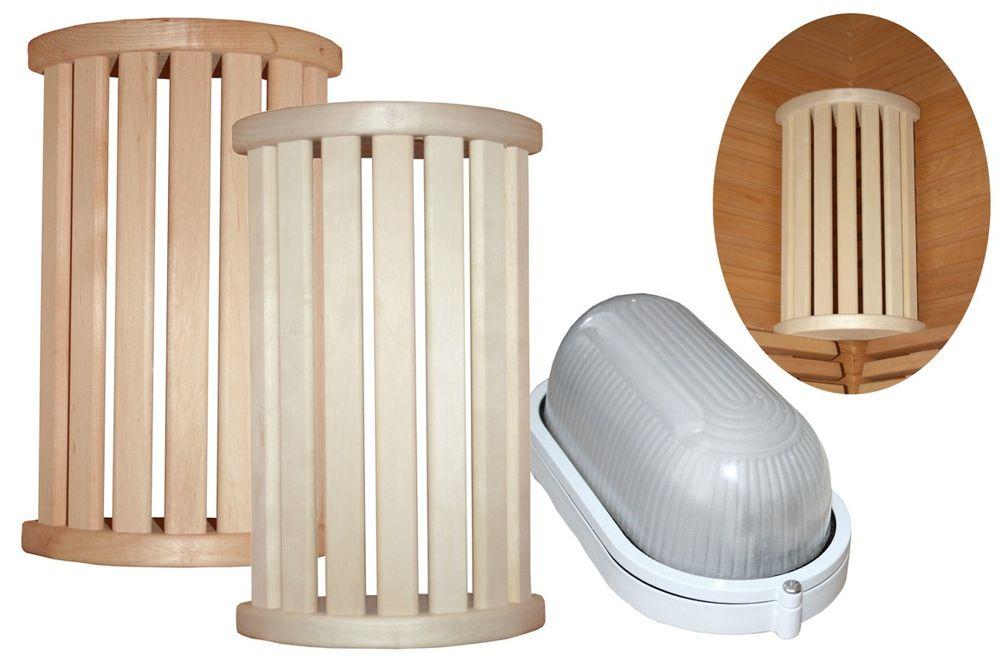 Saunalampe   Eck Lampenschirm R Blendschirm + EOS Saunalampe   einzeln oder im Set
