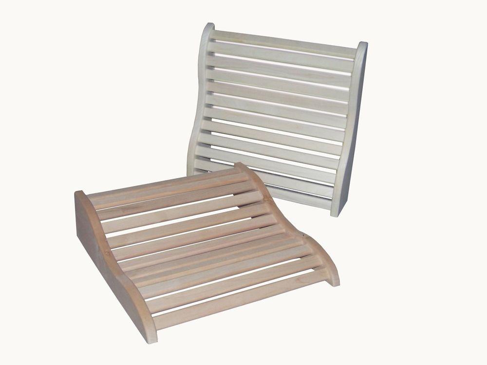 Sauna 2in1 Kopfkeil & Rückenlehne 2 Holzarten