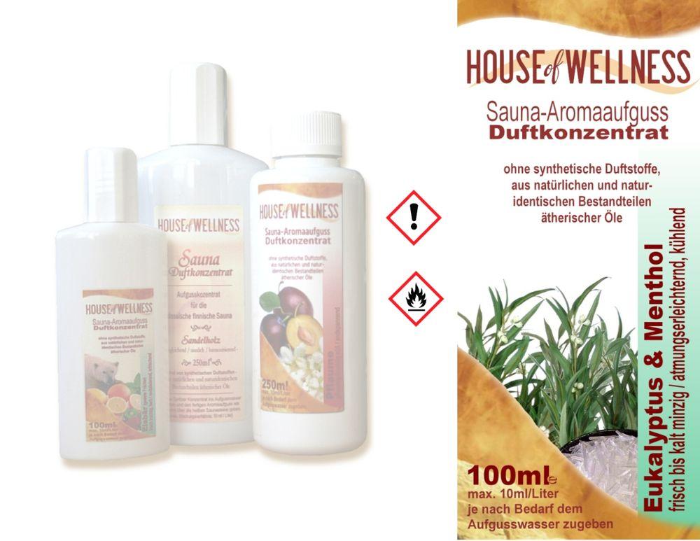 HoW Saunaduft Aufgusskonzentrat 100 ml   Eukalyptus & Menthol