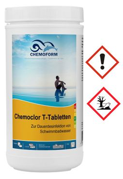 SET: 1kg Chlor T-Tabletten + Dosierschwimmer