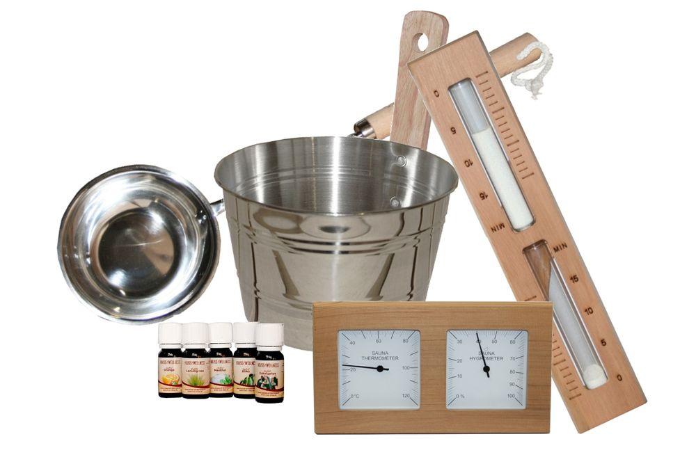 Sauna Starter-Set | 9 teilig Zeder