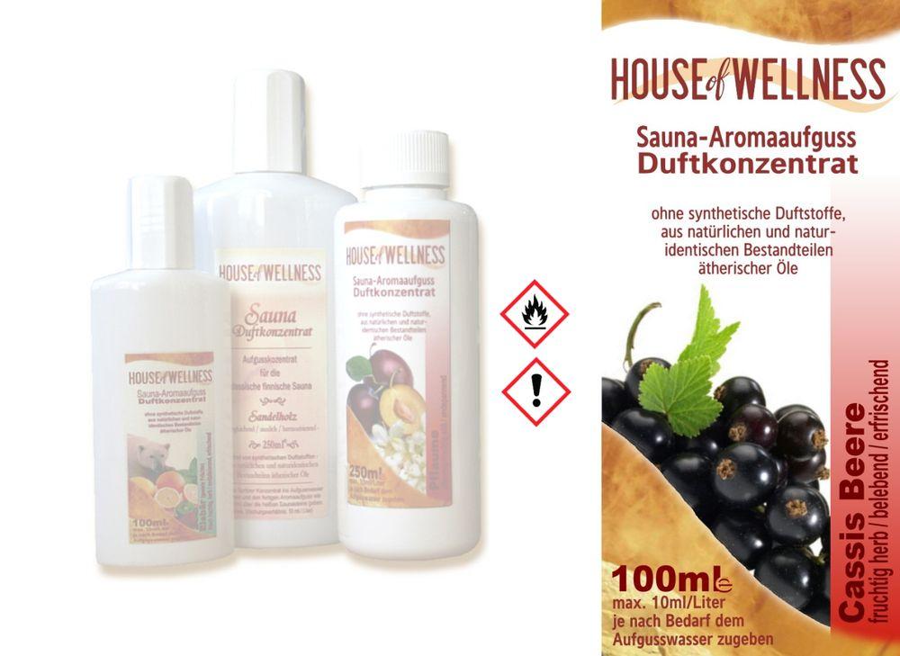 HoW Saunaduft Aufgusskonzentrat | 100 ml Cassis Beere