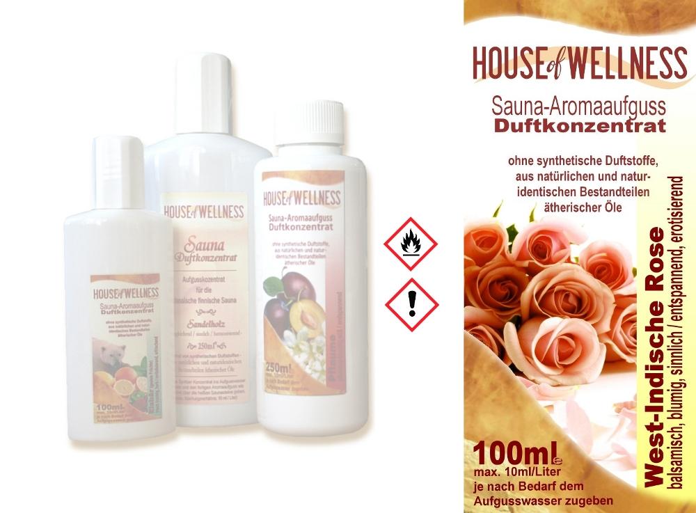 HoW Saunaduft Aufgusskonzentrat | 100 ml West-Indische Rose
