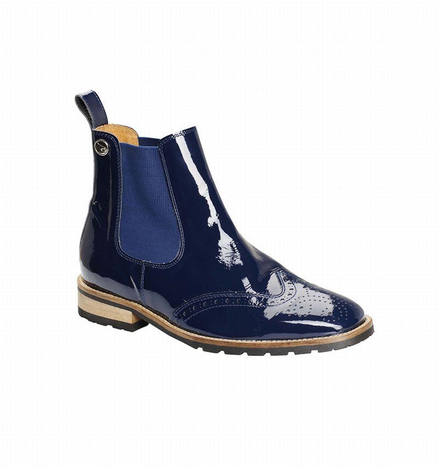 sports shoes be024 5ce3a Details zu Montar Jodphur Stiefelette blau glänzend Leder Boots