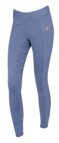 Online-Einzelhändler neues Design retro Details zu Covalliero Damen Riding Tights Linn moonlight blue Vollbesatz  Reit Leggings