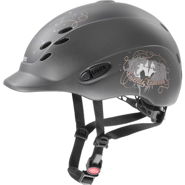 Uvex Helmet onyx Little Pony Anthracite mat kids riding helmet, matt-Optics Kids