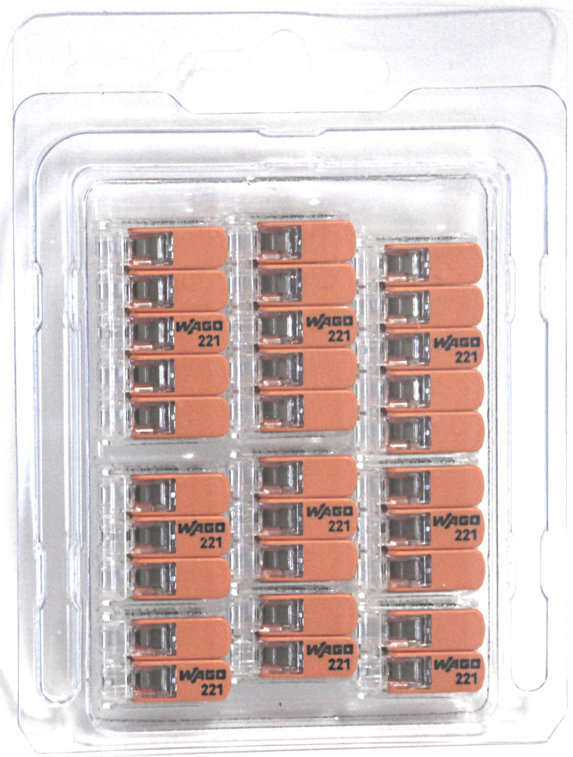 Wago 221-6 bornas set 3x 221-612 conductor de cable conector Box 221-615 221-613