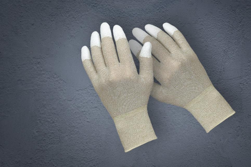 ESD-Strickhandschuh mit Fingerspitzen-Beschichtung