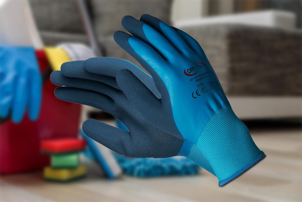Handschuh Latex gesandet