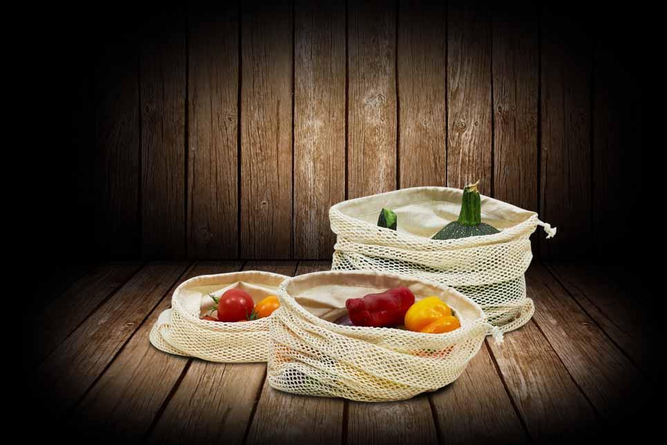 3er Set Obst- und Gemüsebeutel