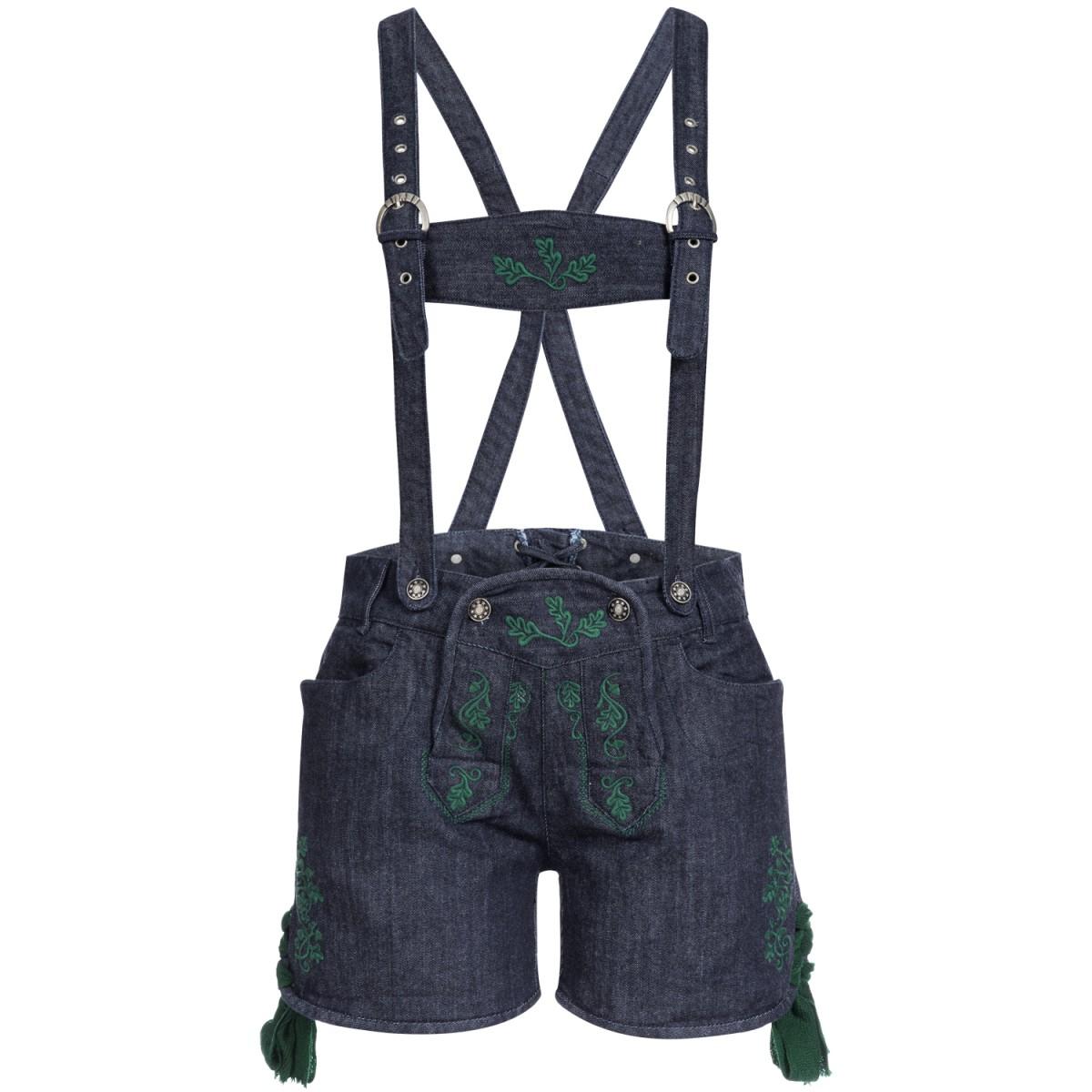 Jeans-Lederhose Stupsi in Blau/Tanne von Almsach günstig online kaufen