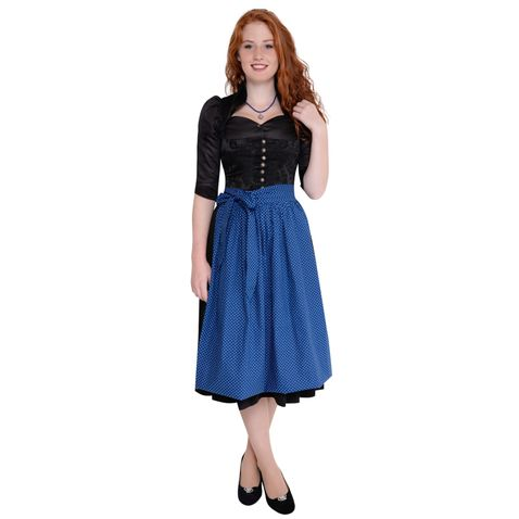 Midi Dirndl Nené in Schwarz von Apple of my Eye