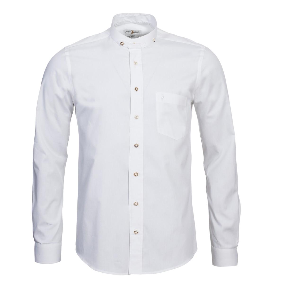Trachtenhemd Slimline in Weiß von Almsach