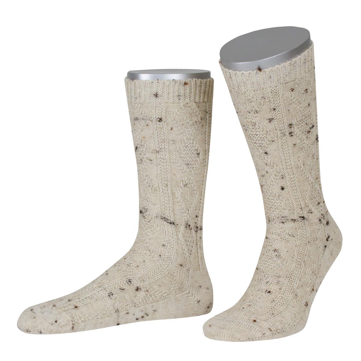 Trachtensocken zur Lederhose in Beige von Lusana günstig online kaufen
