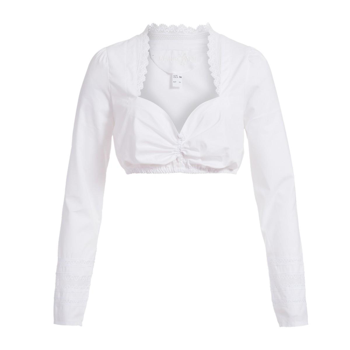 Dirndlbluse Babette in Weiß von Gwandlalm günstig online kaufen