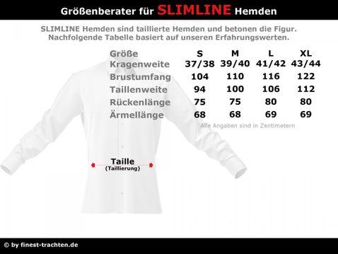 Trachtenhemd Slim Fit zweifarbig in Weiß und Blau von Almsach