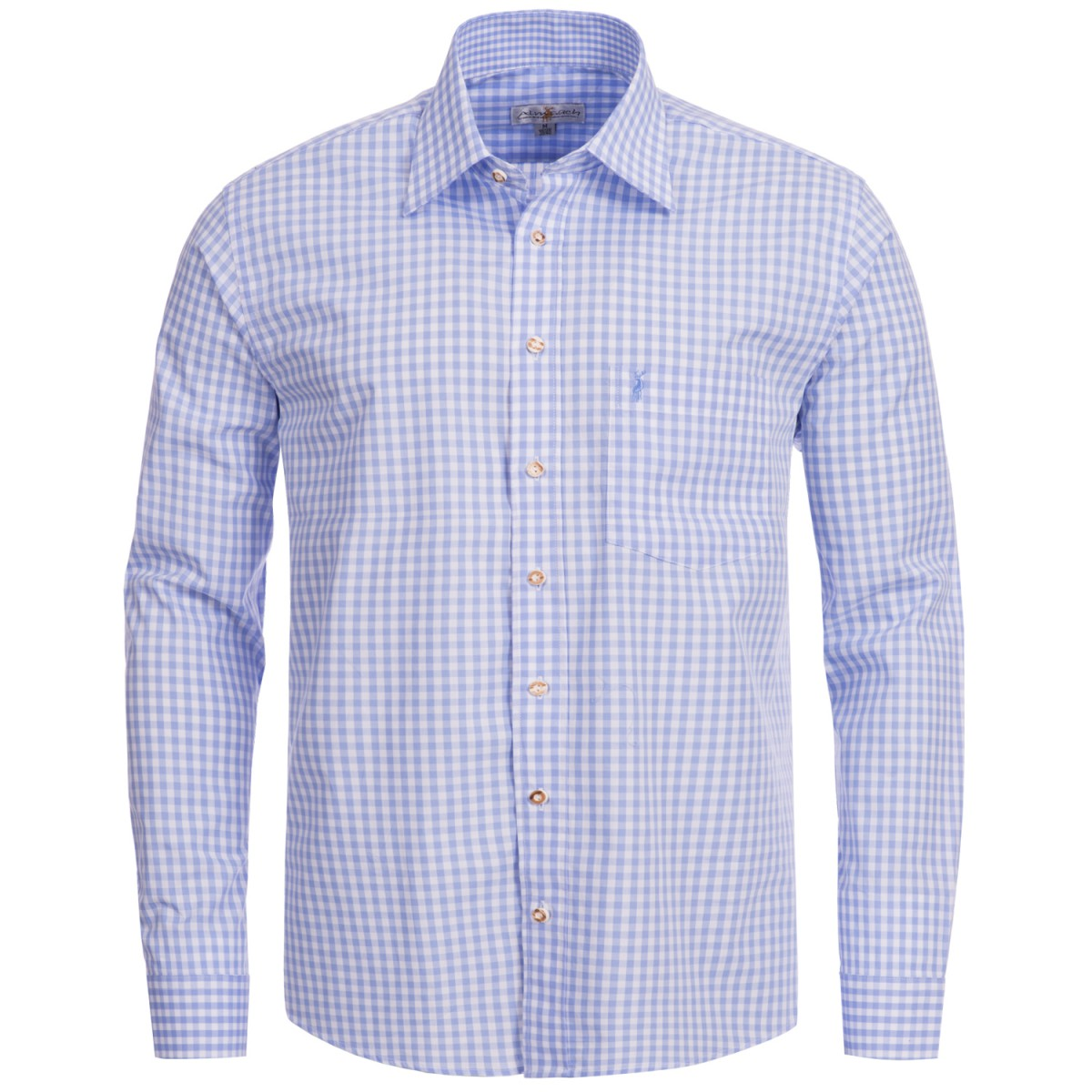 Trachtenhemd Regular Fit in Hellblau von Almsach günstig online kaufen