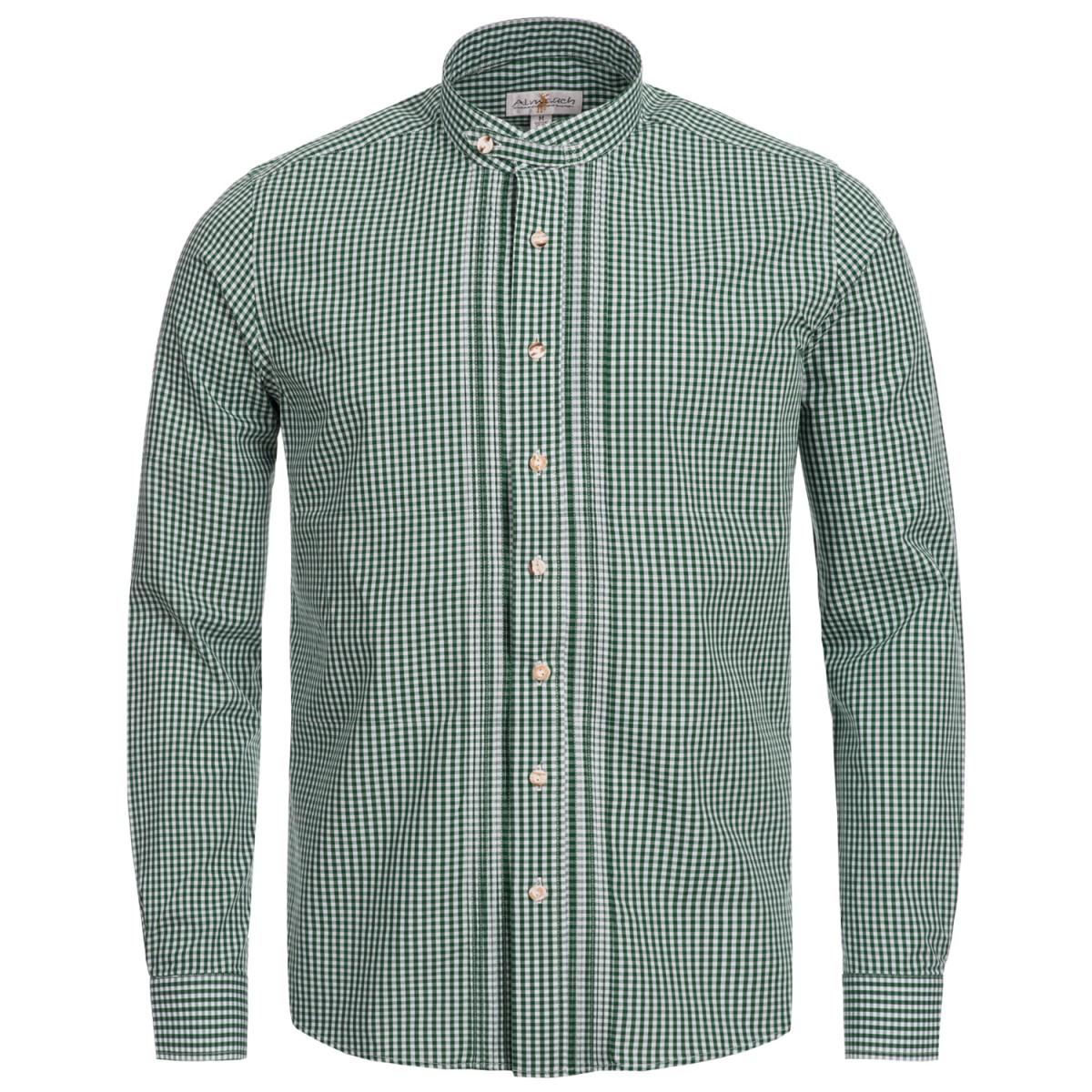 Trachtenhemd Slim Fit in Grün von Almsach günstig online kaufen