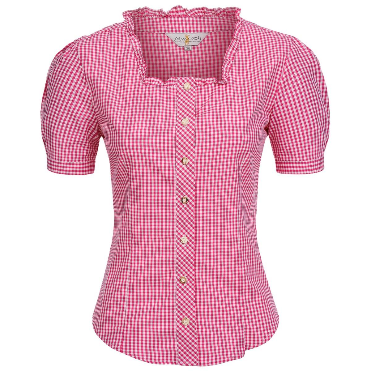 Trachtenbluse Kate in Pink von Almsach günstig online kaufen