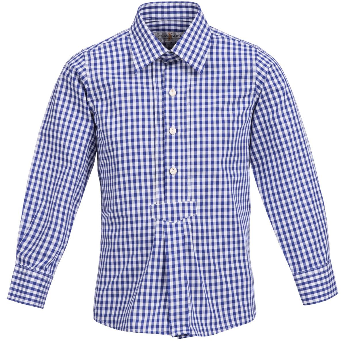 Trachtenhemd für Kinder in Blau von Almsach günstig online kaufen