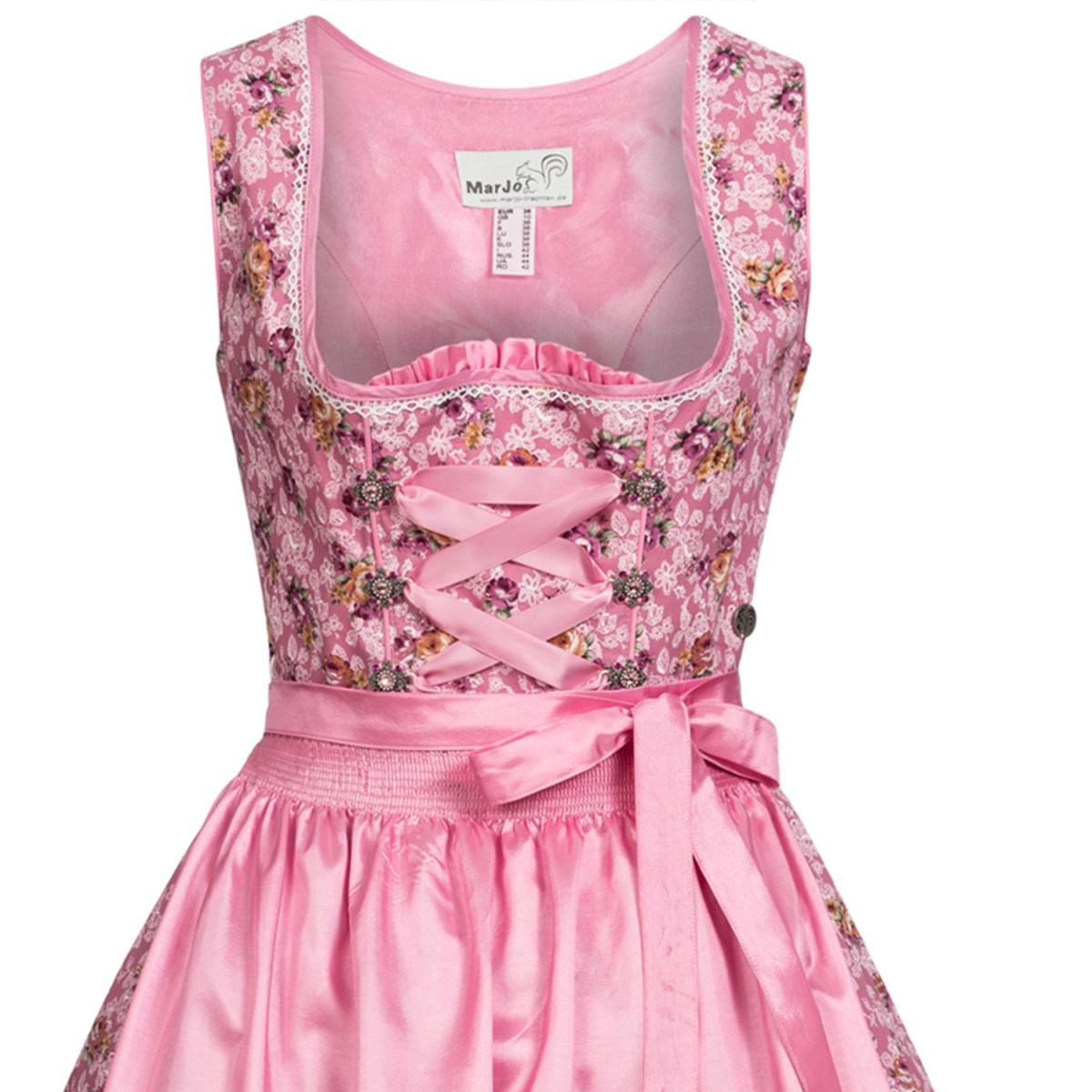 Mini dirndl agnes in rosa von marjo trachten ebay for Trachten finest