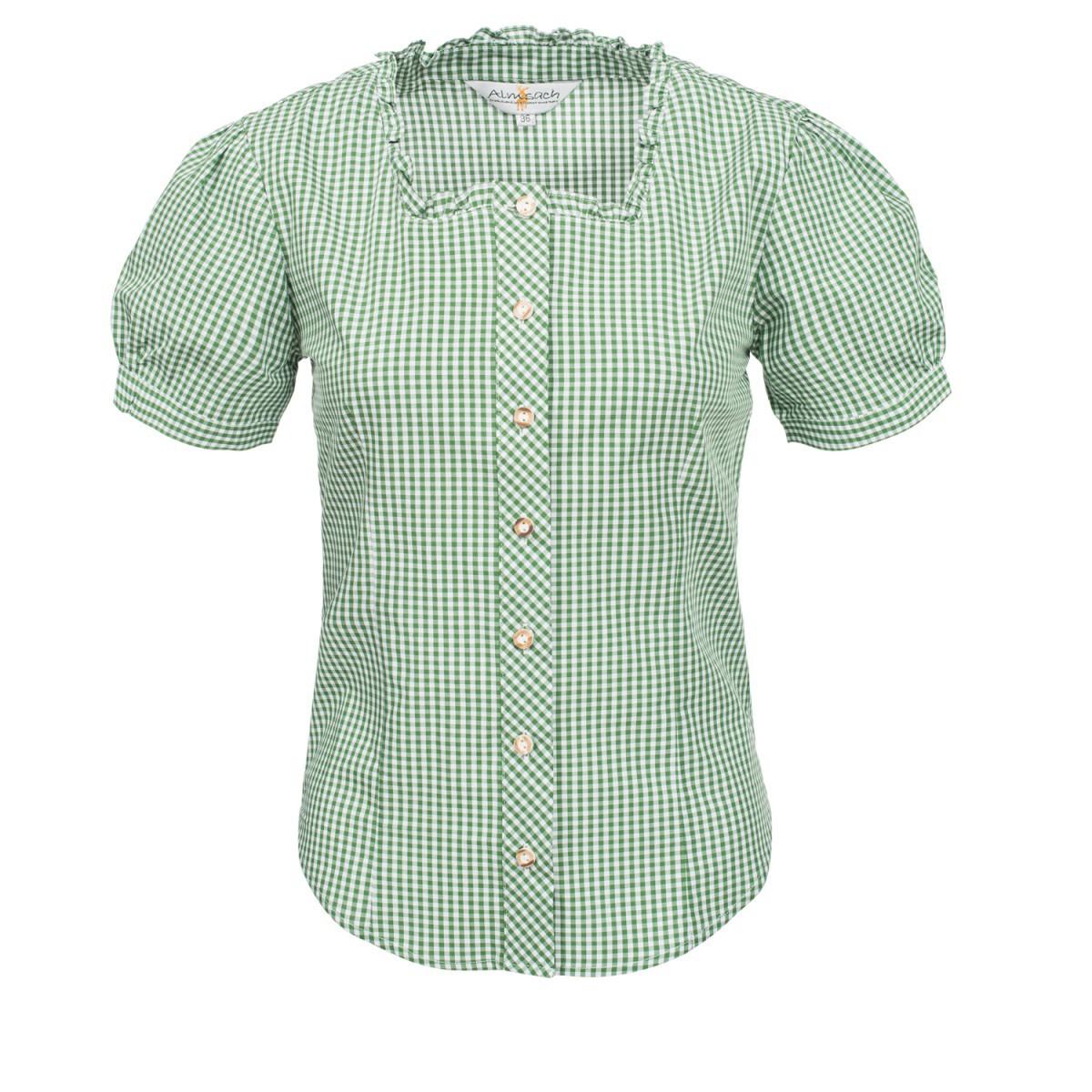 Trachtenbluse Kate in Grün von Almsach günstig online kaufen