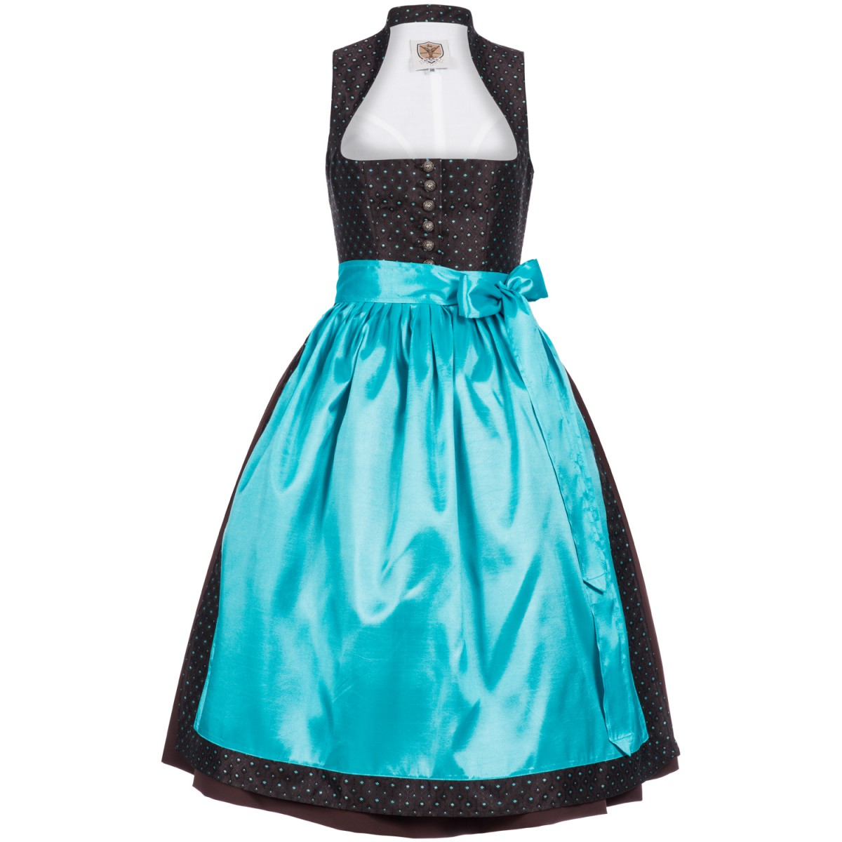 Midi Dirndl Yvonne in Dunkelbraun von Apple of my Eye