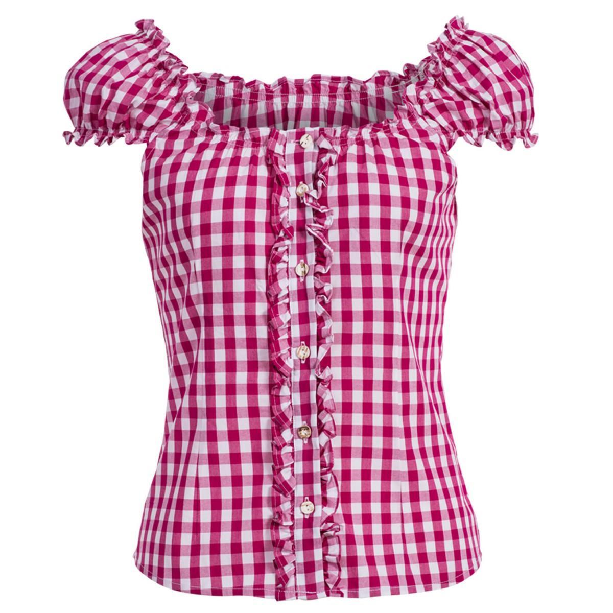 Trachtenbluse Carmen in Pink von Almsach günstig online kaufen
