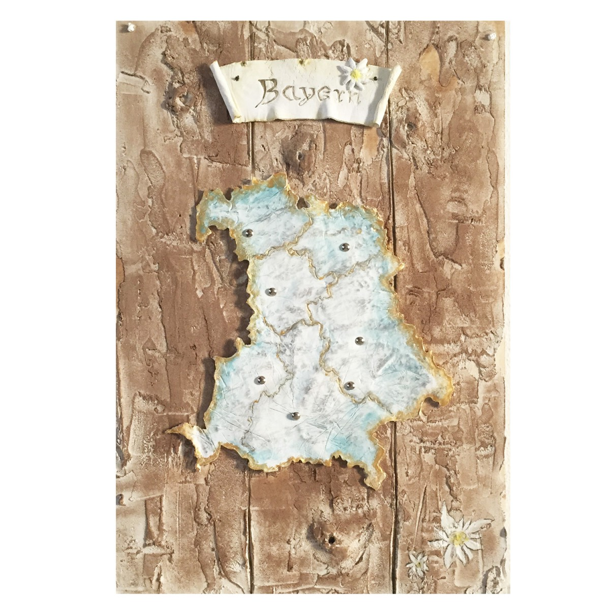 Aquarell Bavarian Map von Finest Trachten
