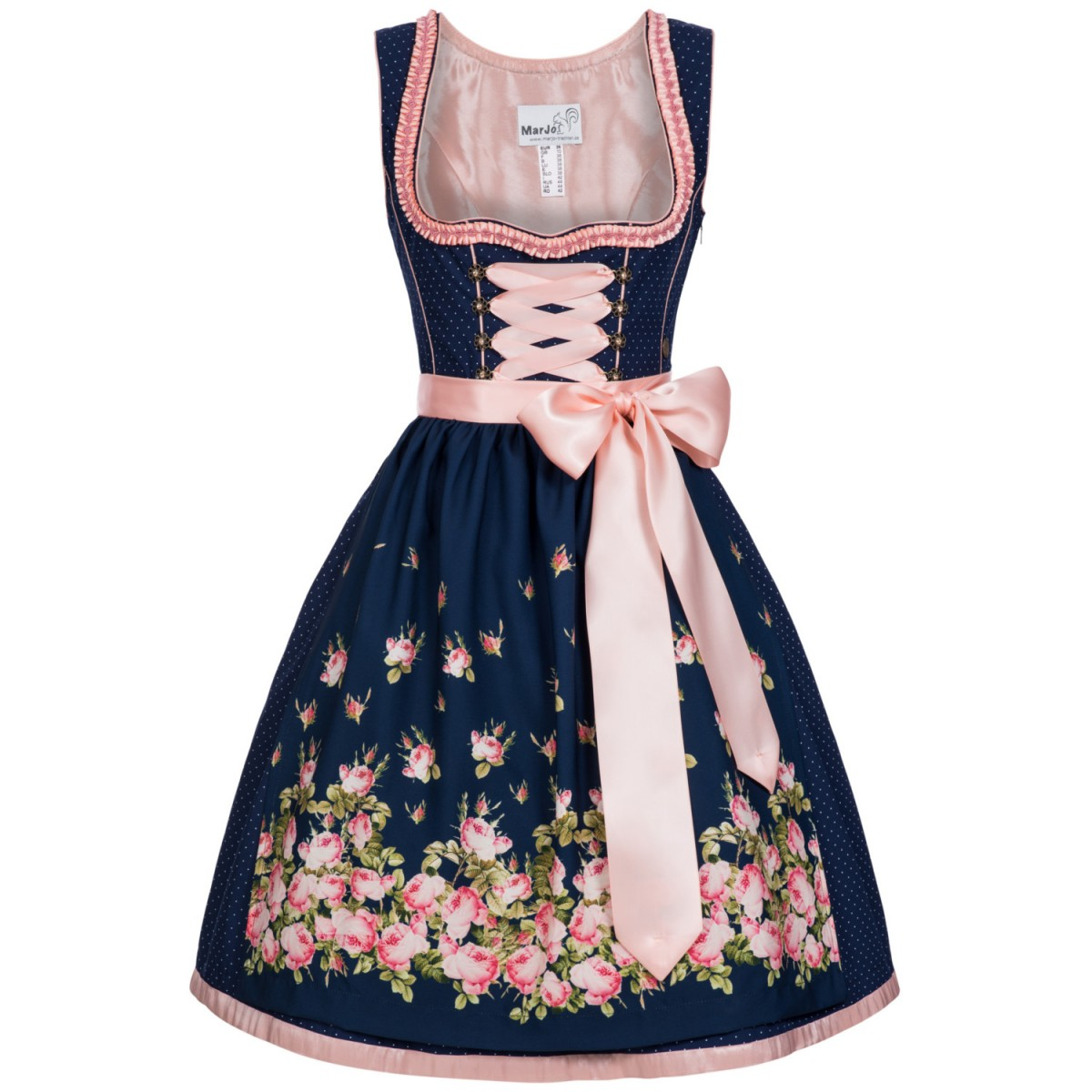 mini dirndl gelia in blau von marjo trachten damen dirndl mini dirndl. Black Bedroom Furniture Sets. Home Design Ideas