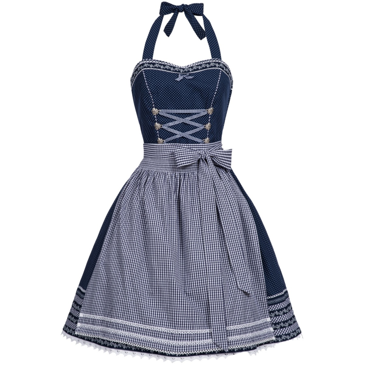 mini bandeau dirndl karina in blau von marjo trachten. Black Bedroom Furniture Sets. Home Design Ideas