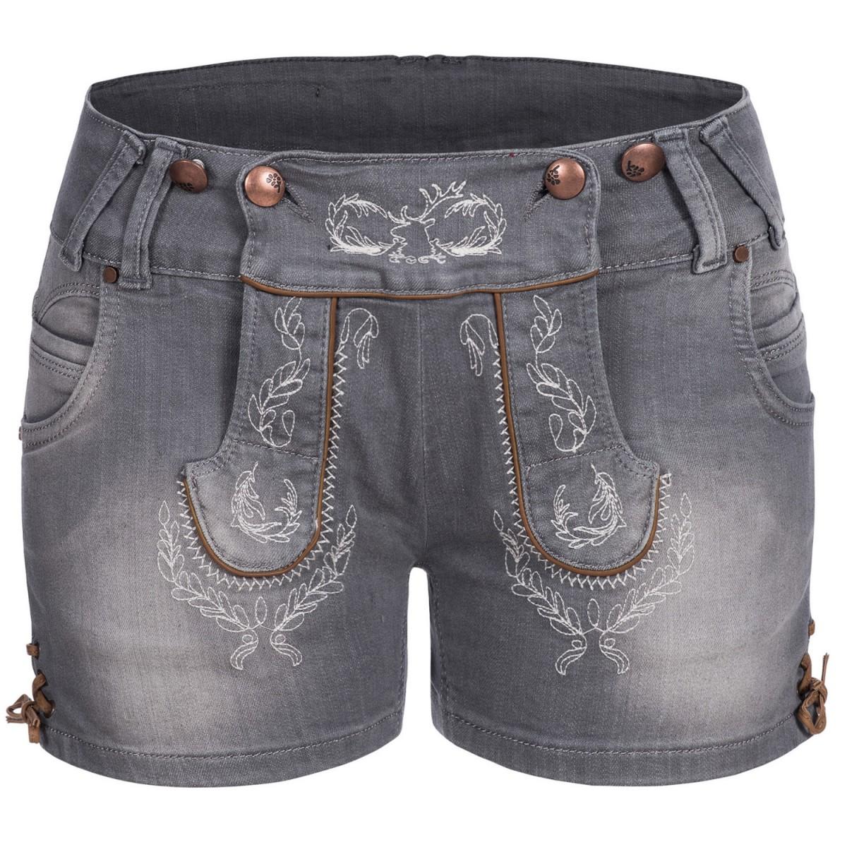399a5ea82ebda Jeans-Lederhose in Grau von Hangowear
