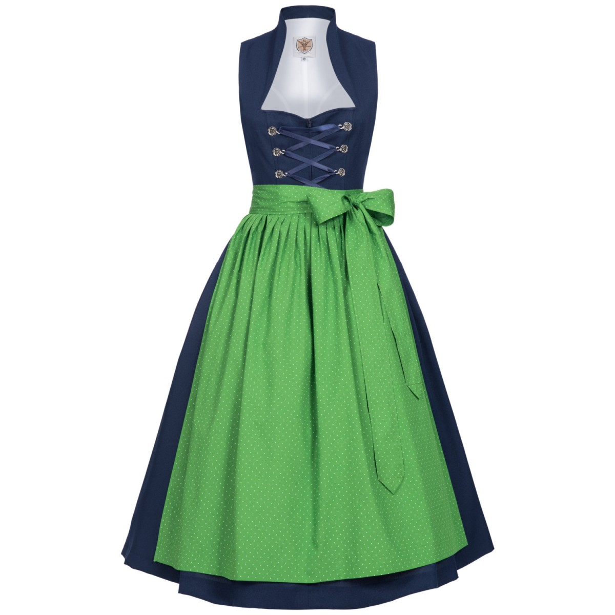 Midi Dirndl Bawett in Blau von Apple of my Eye