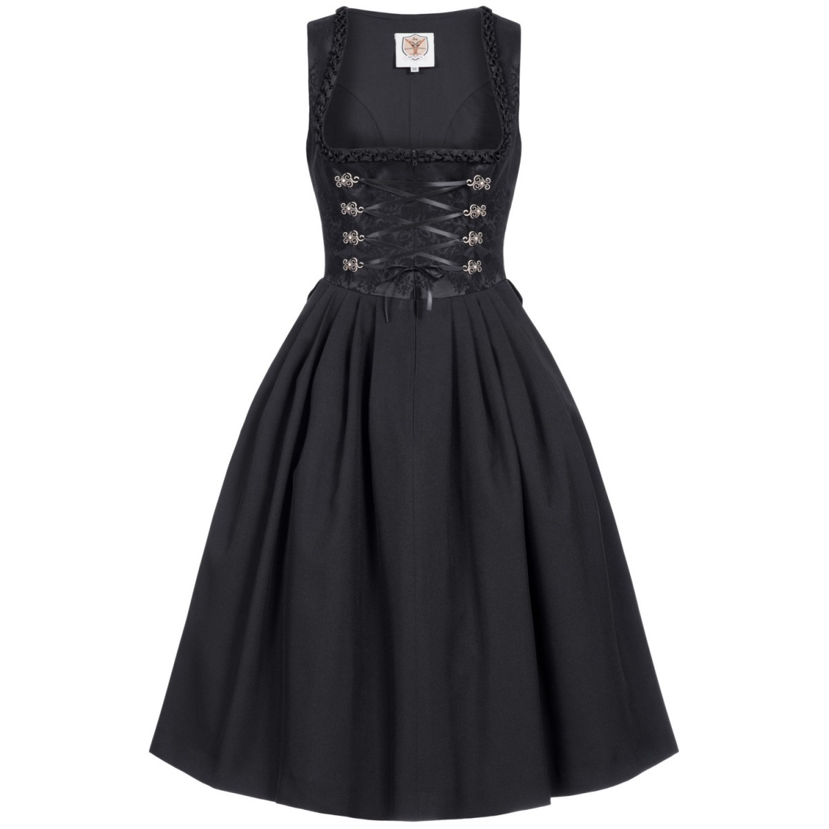Midi Dirndl Dora in Schwarz von Apple of my Eye