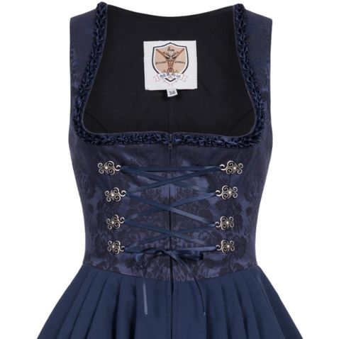 Midi Dirndl Reserl in Blau von Apple of my Eye