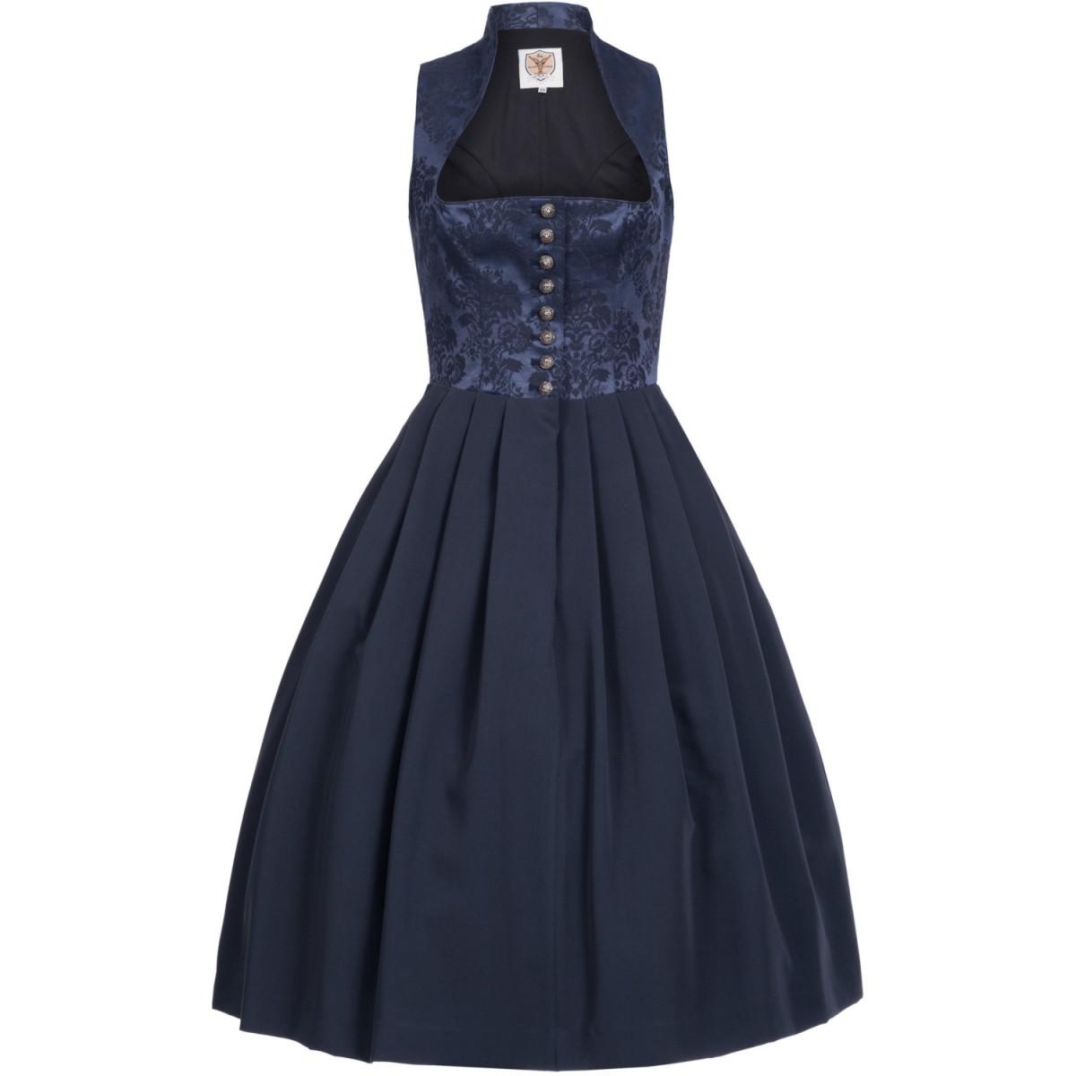 Midi Dirndl Victoria in Blau von Apple of my Eye günstig online kaufen